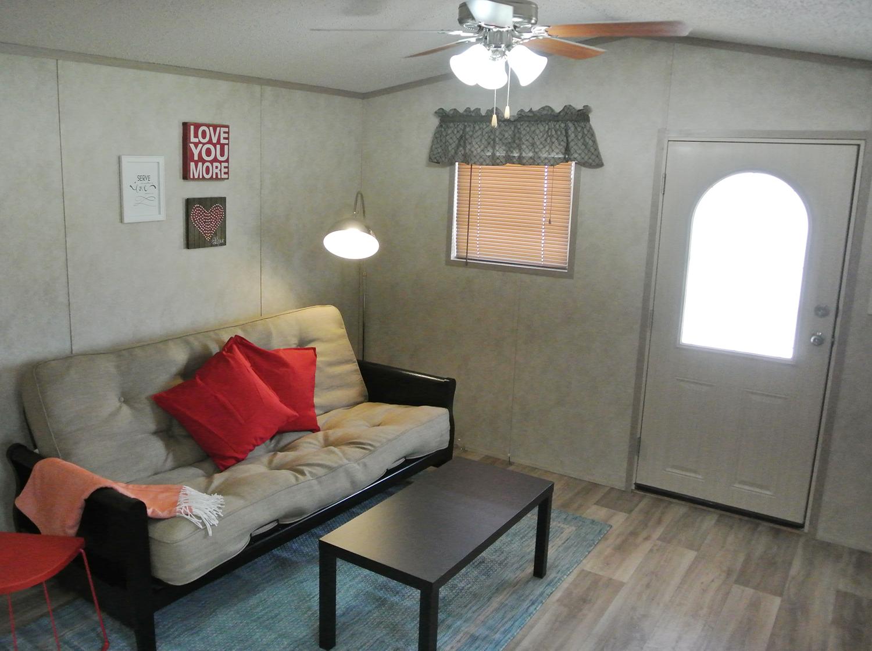 Whispering Oaks Tiny Hacienda Living Room